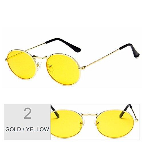 Steampunk De Vintage Gold Redonda De TIANLIANG04 Gafas De Gafas Yellow Oro Metal Mujer Sol Rojo Gafas Sol Bastidor Posterior Hombre Del Uv400 qf8E8dx
