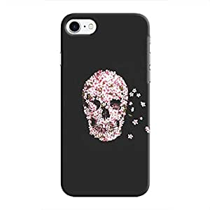 Cover It Up Skull Flower Hard Case For iPhone 8, Black