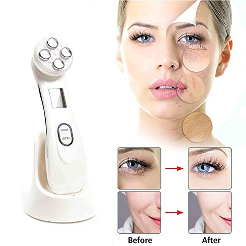 LQLMCOS 5 in 1 Face Skin Beauty Face Lifting Tightening Facial Deep Cleaning Beauty Remover Wrinkle Massager