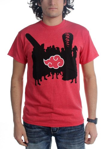 Naruto Shippuden Akatsuki Silhouettes Adult T-shirt XL