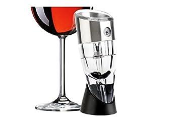 Wine Aerator Set- Gift Box Wine Decanter Silver Twist Magic Wine Aeration Aerator 6 Speeds Adjustable Portable Wine Aeration- With A Stand #1 Best Wine Aerator for Wine