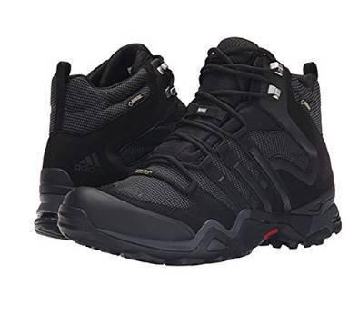 adidas Outdoor Terrex Fast X High GTX Hiking Boot - Men's Black/Dark Grey/Power Red 10