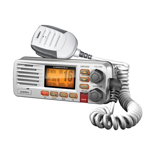 Uniden UM380 Fixed Mount Class D VHF Marine Radio - White (Circuit Gear Bag)