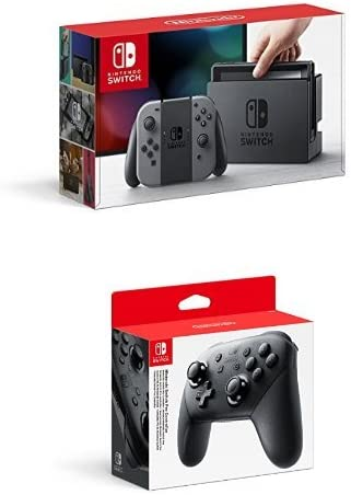 Nintendo Switch - Consola Color Gris + Mando Pro Controller, Con ...