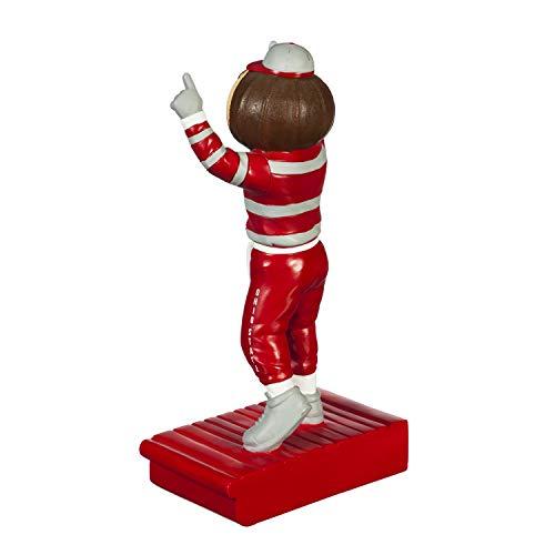 Team Sports America NCAA Ohio State University Fun Colorful Mascot Statue 12 Inches Tall