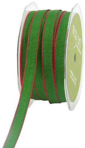 Arts May Ribbon (May Arts 3/8-Inch Wide Ribbon, Green and Red Two Tone)