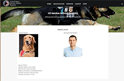 XpressID Holographic Emotional Support Dog ID Card (Custom) Includes Registration To National Dog Registry by Xpress ID (Image #8)