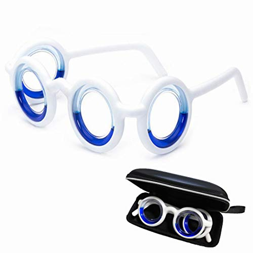 Wuli Peach Anti-Motion Sickness Smart Liquid Glasses, Black Technology Relieve Seasickness Airsickness, Ultra-Light Foldable Portable Lensless Travel Sports Glasses for Adults Kids (Best Otc For Seasickness)