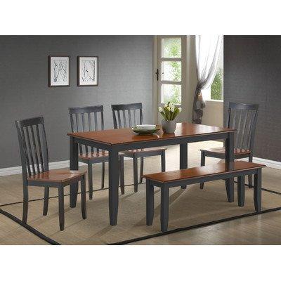 Boraam 21035 Bloomington 6-Piece Dining Room Set, Black/Cherry