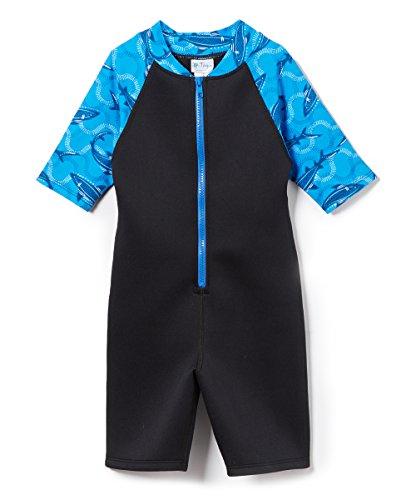 Tuga Boys Thermal Wetsuit (UPF 50+), Indigo Shark, M (9/10 - 10 Size Wetsuit