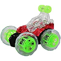 RC Rolling Stunt Car,Aritone Acrobatic 360 Degree Spinning and Flips with Color Flash & Music for Kids