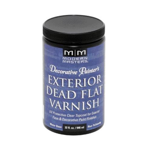Modern Masters DP612-32 Exterior Dead Flat Varnish, 32-Ounce