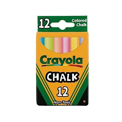 Crayola Chalk, Assorted Colors,12 Count (Case of 36)