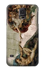 S0179 Michelangelo The creation of Adam Case Cover for Samsung Galaxy S5