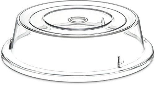 Carlisle 198907 Polycarbonate Plate Cover, 10.6'' Bottom Diameter x 3'' Height, Clear (Case of 12) by Carlisle