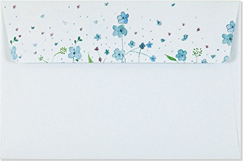 Review Blue Flowers (Letter-Perfect Stationery)