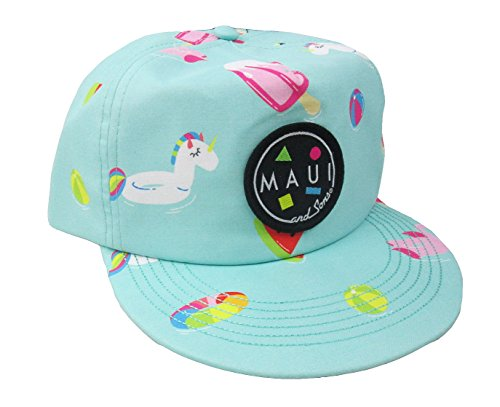 Maui & Sons Men's Chillax Flip up Snapback Hat (Green, One Size) by Maui & Sons