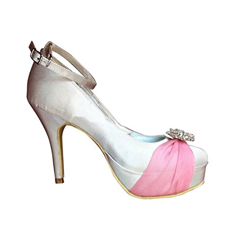 Ivory pour Sandales femme Pink Heel Minitoo 10cm q7w5x4UIU8