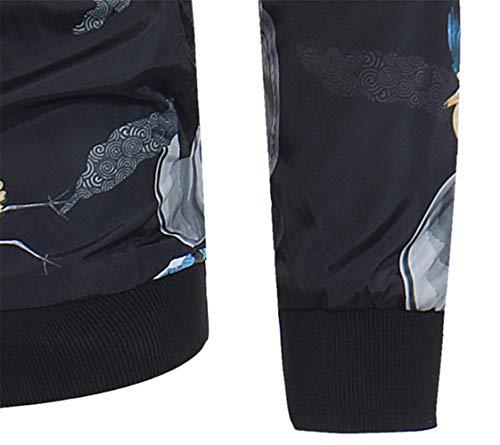 Col 19 Veste Grande Imprimée Hommes Slim Classiqueveste Taille,veste Xeb À Pour Homme Fit Veste,veste OxqXPz