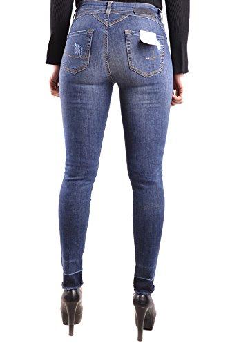 Bleu MCBI242196O Jeans Pinko Coton Femme SggOE
