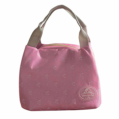 JD Million shop Lunch Bag New Portable Picnic Tote Insulated Cooler Zipper Organizer Box Purse 11S60912 (Hot - Christian Bag Dior Pink