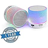 ECOM DELHIMART Wireless LED Bluetooth Speakers S10 Handfree with LED Lights
