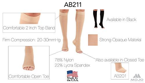 f3010cc1fae XXX-Large Medical Opaque Compression Socks Plus Size for Women   Men -  Extra Wide