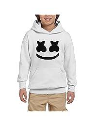 ElinaDesdemona Cool Marshmello Face Youth Hooded Pullover Sweatshirt
