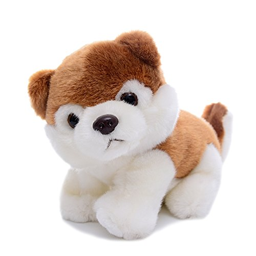(Gloveleya Realistic Stuffed Golden Retriever & Huskey Dog Puppy Dolls Animal Toys)