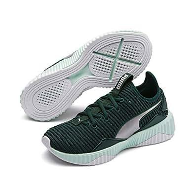 PUMA Women's Defy TZ WN's Sneaker, Ponderosa Pine-fair Aqua, 6 US
