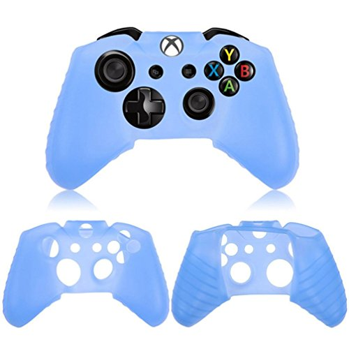 Sinfu 1x Silicone Rubber Skin Case Protective Durable For Xbox One Wireless Controller Hobbies Toy (Blue)