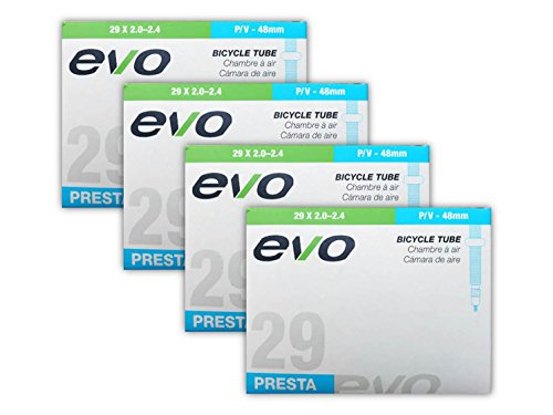 EVO Mountain Bike Tube - 29'' x 2.0/2.4-48mm Threaded Presta Valve (29er) - FOUR (4) PACK by EVO