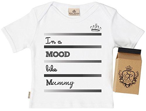 SR - Mood Like Mummy Baby T-Shirt 100% Organic in Milk Carton 0-6M White