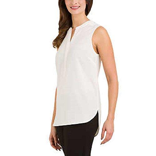 Hilary Radley Ladies' Sleeveless Blouse, Ivory, XX-Large