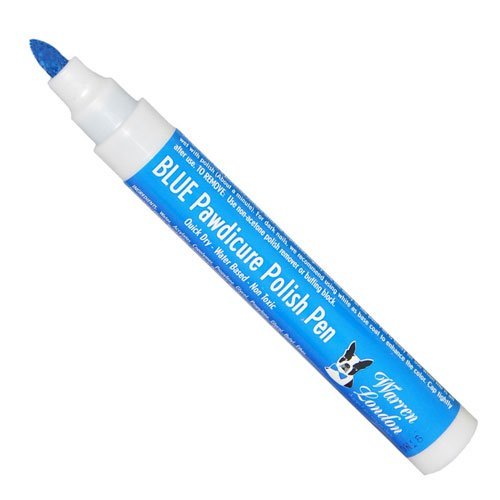 Warren London - Pawdicure Polish Pen, Non-Toxic and Fast Drying Dog Nail Polish - Blue