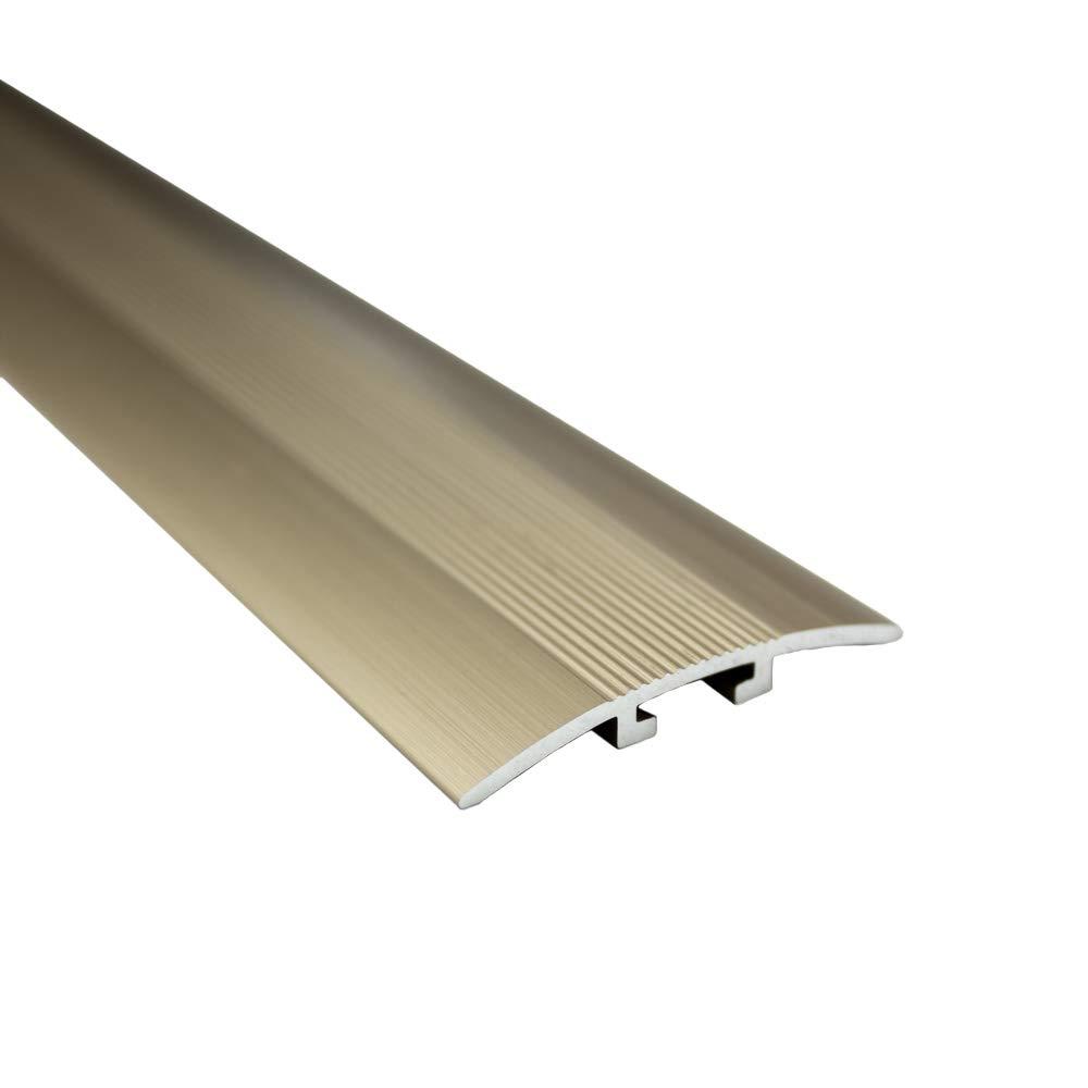 Alu Profil /Übergangsschiene /Übergangsprofil Laminat silber gold matt L90cm 40mm gold