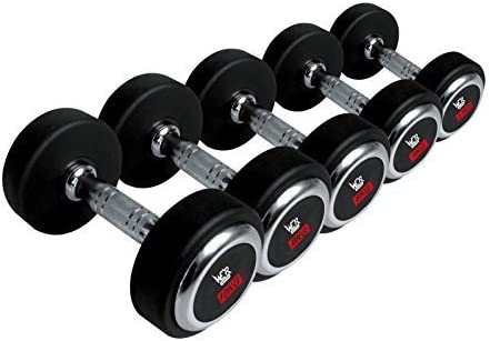 Olympic Pair Round Rubber Hex Dumbbells Encased Ergo Weights Sets Home Gym Fitness