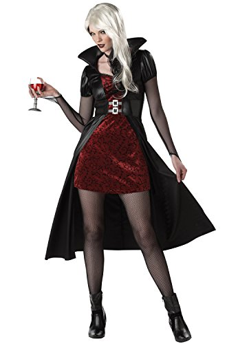 California Costumes Women's Blood Thirsty Beauty Costume, Black/Burgundy, (Gothic Beauty Black Costumes)