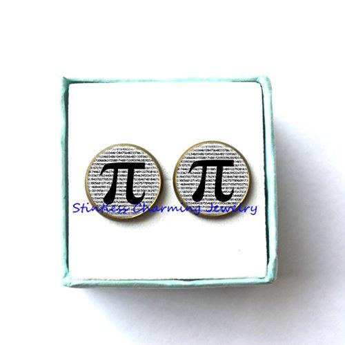 Pi Earrings, Mathematical Jewelry, Math Teacher Gift Earrings, Christmas Gift,math teacher,math jewelry, teacher gift (Mathlete Halloween Costume)