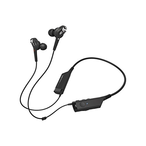 Audio-Technica ATH-ANC40BT QuietPoint Active Noise-Cancelling Bluetooth Wireless In-Ear Headphones