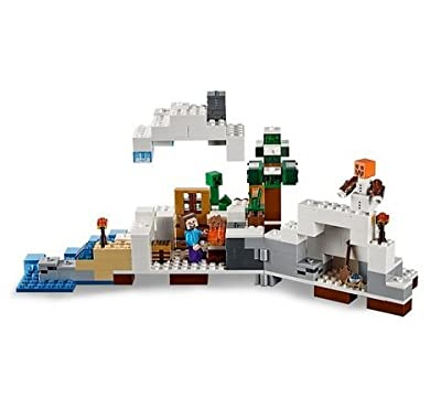 Lego-Star Wars-LEGO®Minecraft Premium First Snow Hideout -Educational Toys-327 Pieces-Build to survive with The Snow Hideout-Guaranteed!