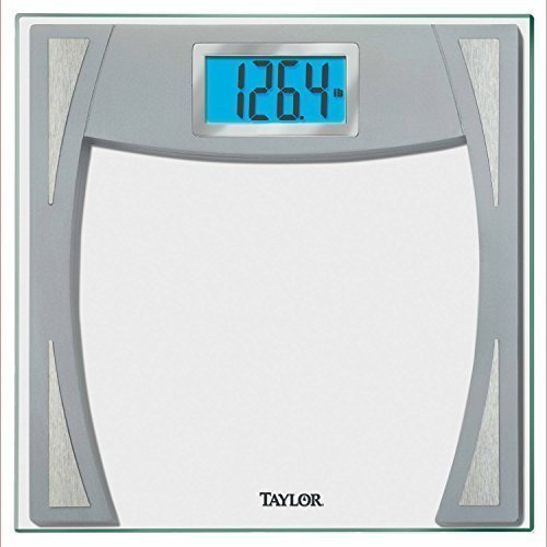 Taylor 7581 Glass Digital Scale Stainless Steel Accent with