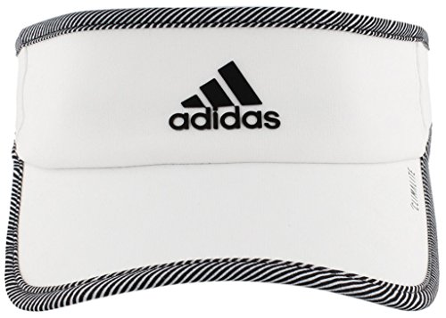 - adidas Women's Superlite Performance Visor, White/Optic Stripe, One Size