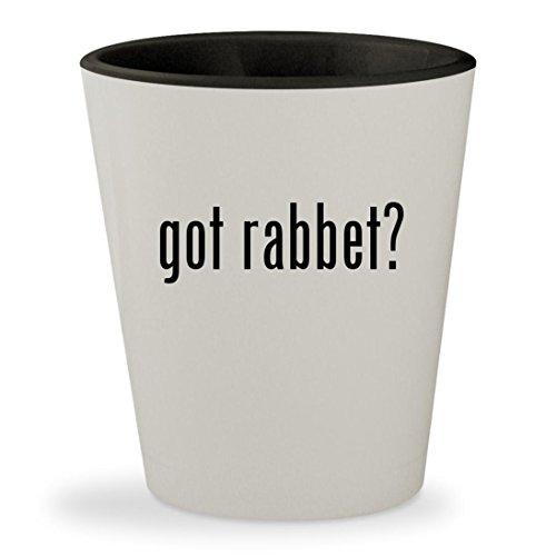 got rabbet? - White Outer & Black Inner Ceramic 1.5oz Shot Glass - Lie Nielsen Block Plane