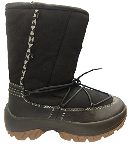 ULU Mens Crow Shearling Boot Black ggkGMQRgb