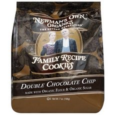Newmans Own Organics Double Chocolate Chip Cookie, 8 Ounce - 6 per case. - Newmans Own Chocolate Bar