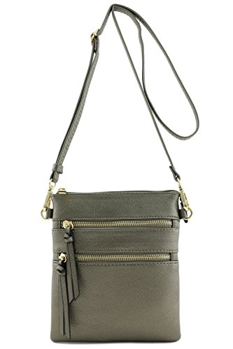 Functional Multi Pocket Crossbody Bag (Pewter)