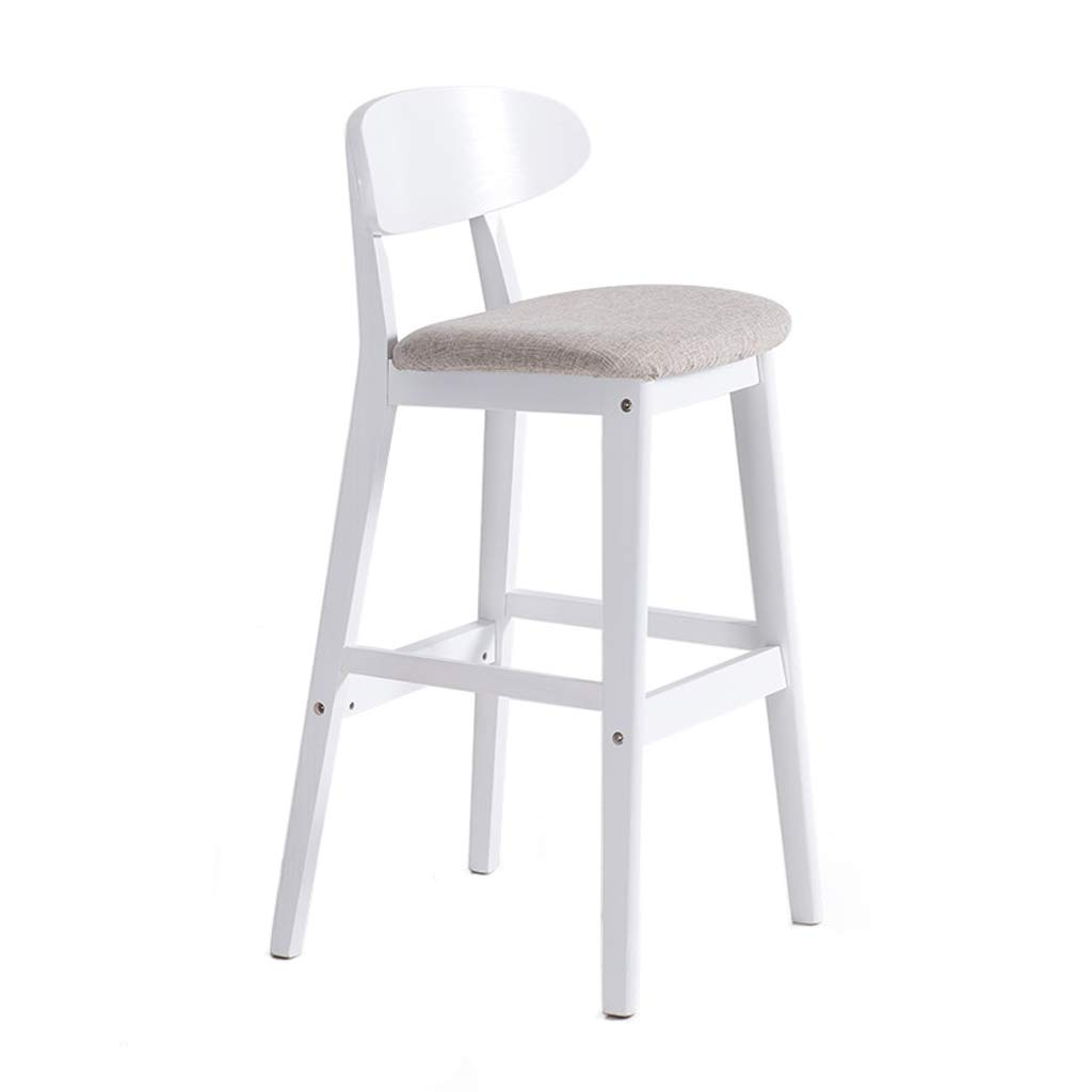 A TXXM Barstools Modern Minimalist bar Chair high stools Home Solid Wood bar Stool (color   A)