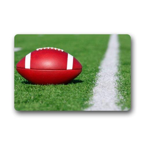Fuera de línea blanca balón de fútbol americano Game Doormats ...