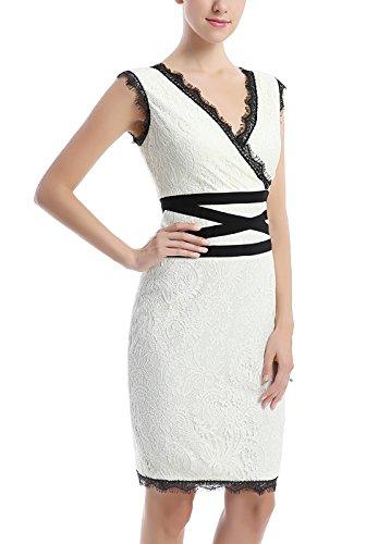 Dress White Lace Women's phistic Sheath gw1qHxp